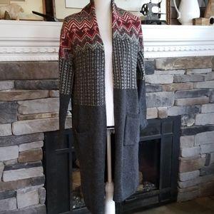 J. Jill open cardigan sweater duster